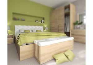 спалня с тапицирана табла